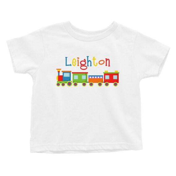 Choo Choo Tee Personalized Kids Tee Shirt By Limerikeedesigns