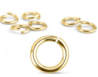 Jump Rings, Gold Plated, 20 Gauge, 7mm, 90 Pack-Impressart Brand-Metal Supply Chick-1AJR127G