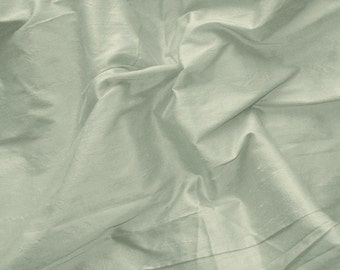 Silk Dupioni Fabric - silver grey 100% pure silk - 1 yard - sld168