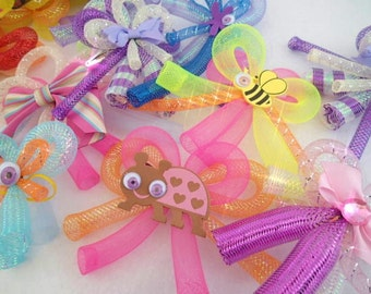 Cyberlox Bow Cyberbows Clip On in Pick Your Color Red Orange Yellow Lime Green Blue Purple Pink White Black Kawaii Fairy Kei Cyberpop Cyber