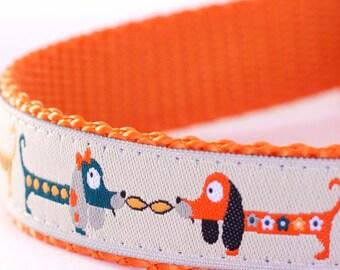 Long Pup Dog Collar, Dachshund Dog Collar, Doxie, Weiner Dog Pet Collar