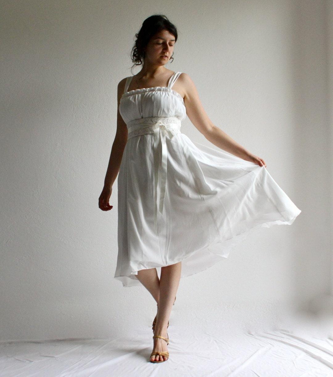 Hi Low Wedding Dress: Hi Low Wedding Dress Boho Wedding Dress Short Wedding Dress