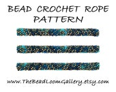 Bead Crochet Rope Pattern - Vol. 47 - Blue Abstract 2 - PDF File