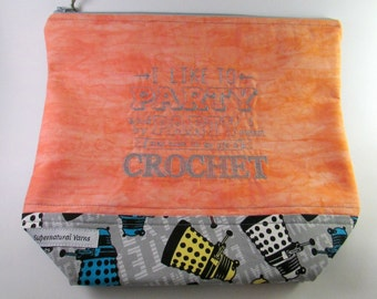Party...Crochet - Doctor Who - Dalek Zippered Project Bag