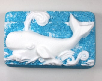 Whale Bath Bomb - bath fizzy, bath bombs, bath fizzies, ocean animals, party favor, nautical theme, sea animals, white whale, moby dick