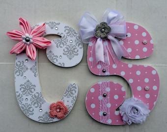 Custom Decorative Nursery letters, custom wood letters, nursery decor, letters, custom wall letters