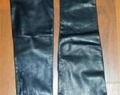 Vintage Caressskin Opera Gloves in Black size 6.5