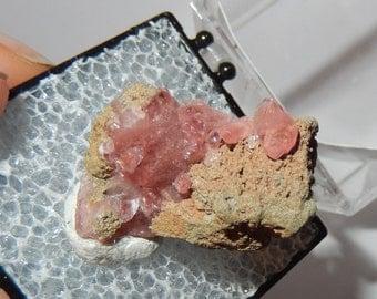 Rhodocrosite crystal cluster