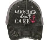 Lake Hair Don't Care Trucker Cap