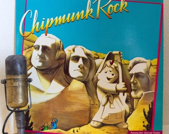 "ON SALE The Chipmunks comedy Vinyl LP Record Album 1980s Comedy Fun Kids Silly Laugh Parody ""Chipmunk Rock"" (Original 1982 Rca w/""Whip It"")"
