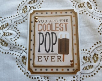Father's Day Cool Pop Greeting Card