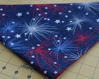 Glittered Fireworks Bandana
