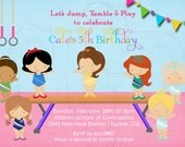 Princess Gymnastics Birthday Invitation -Digital File