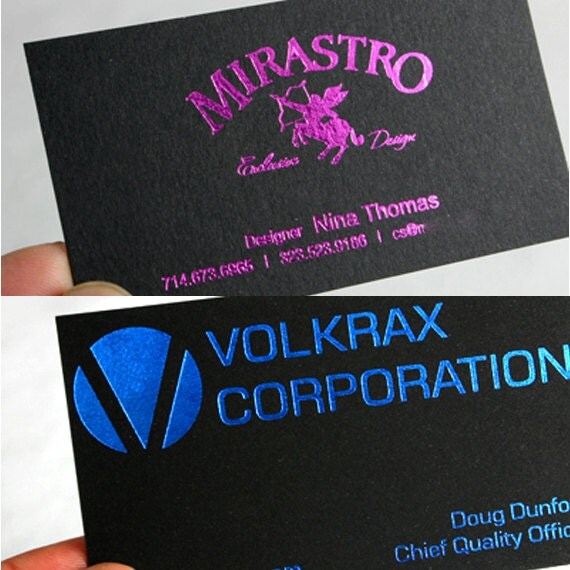 100 Business Cards black 14PT matte stock choice of red