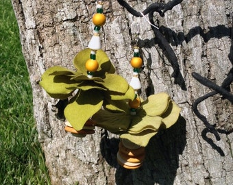 Olive tutu earrings