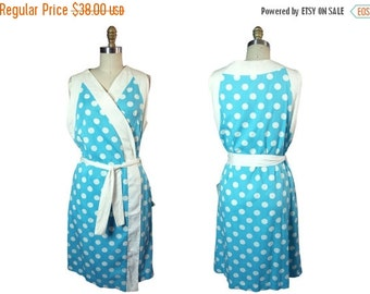 Summer Sale 1960s Evelyn Pearson Polka Dot  Wrap Cover UP