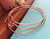 Sale--NEW-Pure Copper Bangles Hammered and Imperfectly Perfect-Set of Three