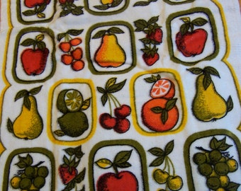 full of fruit terry cloth towel