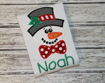 pretty fun for fall snowman face appliqué shirt
