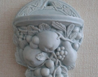 Shabby chic duck egg blue. Cream or bronze effect wall sconce shelf