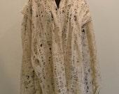 Cobweb Lace Luxury Scarf Felt Shawl Baby Camel Silk Natural White Beige Cream Champagne Wedding bridal fashion XXL size large shawl