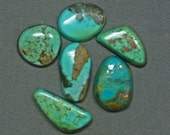 Turquoise cabochons lot Kingman and assorted mines,  B-3