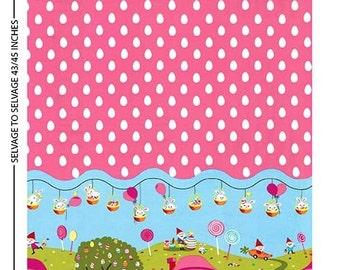 Michael Miller Easter Gnomeville Multi Panel Fabric - 1 yard