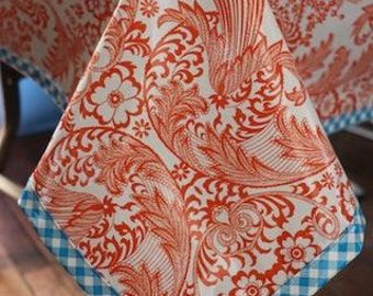 Toile Orange Tablecloth or Splat Mat