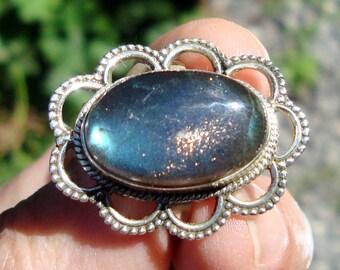 labradorite ring  silver ring  labradorite stone