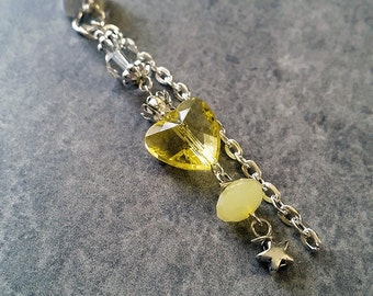 Princess (in yellow) - SINGLE Ear Cuff silver plated / no piercing required