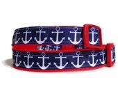 Anchor dog collar. FREE Custom Pet Tag