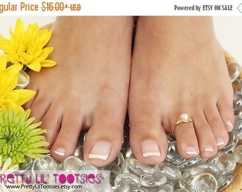 Buy 3, Get 1 FREE - Pearl Toe Ring - Choose Your Favorite Color