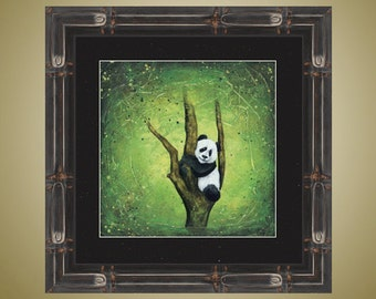 PRINT or GICLEE Reproduction -- Cute Baby Panda in Tree Print -- Playtime