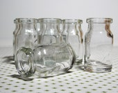 Small Glass Jars Vials Milk Jug Shape 50 Without Cork For Crafts Projects