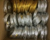 38 rolls Defected wire (suitable for wire sculpture) - 2.5mm gold color (10 gauge) thick and 3mm silver color (8 gauge) thick aluminium wire