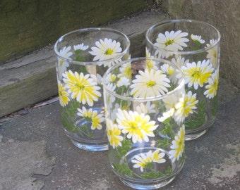 Vintage Libbey Daisy Juice Glasses