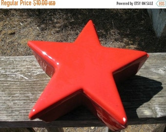 RED  Star CERAMIC  Box Made in Italy