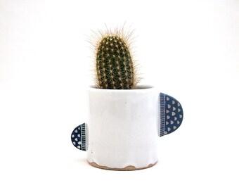 Ceramic Blue Paddle Mug
