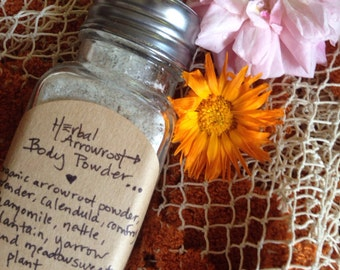 Herbal Body Powder. Organic Plant Based. Nourishing and Healing