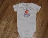 Daddy's Little Clemson Tiger Onesie