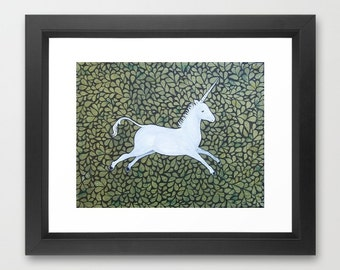 Unicorn Art Print Framed