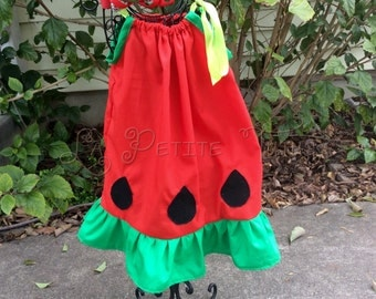 Watermelon cutie, pillowcase dress, watermelon pillowcase dress, summer dress, watermelon dress, girls dress, toddler dress, baby dress