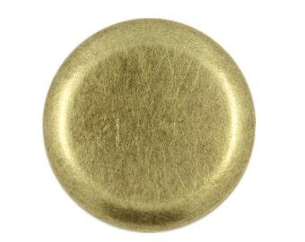 Metal Buttons - Flat Antique Brass Metal Shank Buttons , 1.38 inch , 6 pcs
