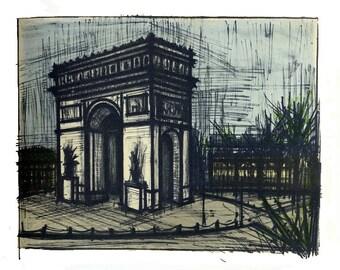 Mid Century Bernard Buffet Bernard Buffet Paris L'arc de Triomphe - 42