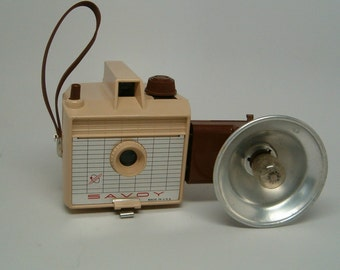 Vintage Camera, TAN Imperial Savoy with FLASH, WORKING Vintage Camera
