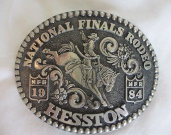 1984 Nationals Finals Rodeo HESSTON Belt Buckle