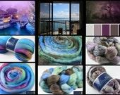 Wool Roving Sampler - Shetland, Merino/Tencel, Polwarth/Mohair/Silk 6.9 oz