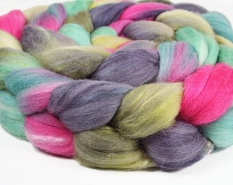 THE FROG PRINCE Merino/Silk Roving - 4.0 oz