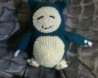 Crochet Snorlax Pokemon READY TO SHIP