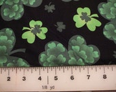 """Clearance Fabric - """"Multi Clovers"""" by Spring Creative Products Group    1 yd. 8 inches  CP41537"""